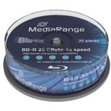 MediaRange BD-R 25GB 4x SP(25) BluRay Disc, Kapazität: 25GB