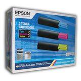 Epson Toner S050287 Cyan/ Magenta/ Gelb Economy Pack