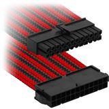 Nanoxia ATX-Verlängerung 30 cm Single schwarz/rot