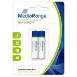 MediaRange HR03 Nickel-Metall-Hydrid AAA Micro Akku 1000 mAh 2er Pack