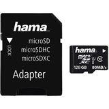 128 GB Hama 80MB/s Mobile microSDXC Class 10 UHS-I Retail inkl. Adapter auf SD
