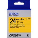 Epson Band pastell schw./gelb 24mm