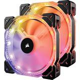 Corsair HD140 RGB LED PWM 2er-Pack mit Controller 140x140x25mm 600-1350 U/min 18-28.6 dB(A) schwarz/transparent
