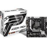 ASRock A320M Pro4 AMD A320 So.AM4 Dual Channel DDR4 mATX Retail