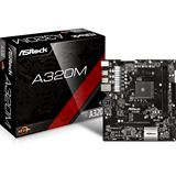 ASRock A320M AMD A320 So.AM4 Dual Channel DDR4 mATX Retail