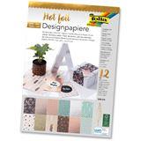 Folia Designpapierblock Hotfoil DIN A4, 165g/qm, 12 Blatt