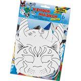 Folia Kindermasken, aus Pappe, 6 Motive sortiert