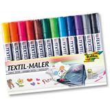 Folia Textilmarker, 12er Set, farbig sortiert