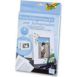 Folia Bilderrahmen-Set, aus Pappe, 10 x 15 cm, 2er-Pack weiß