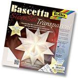 Folia Faltblätter Bascetta-Stern, 200 x 200 mm, weiß