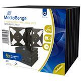 MediaRange CD Jewelcase 6Disc Black (5)R Leerhüllen,