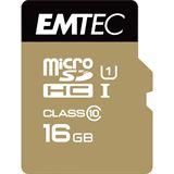 16 GB EMTEC Gold+ SDHC Class 10 U1 Retail inkl. Adapter auf SD