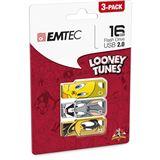 16 GB EMTEC Looney Tunes 3er-Pack verschiedene Farben USB 2.0