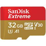32 GB SanDisk Extreme miniSDHC Class 10 UHS-I A1 Retail inkl. Adapter