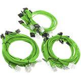 Super Flower Sleeve Cable Kit grün