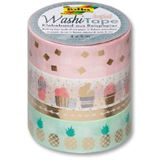 folia Deko-Klebeband Washi-Tape Hotfoil, 4er Set, gold