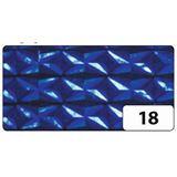 folia Holografie-Klebefolie, 400 mm x 1 m, Diamant blau