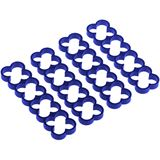 Alphacool Eiskamm Alu X16 - 4mm - 4 Stück blau