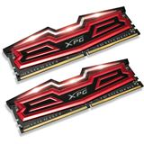 16GB ADATA XPG Dazzle LED rot/schwarz DDR4-2400 DIMM CL16 Dual Kit