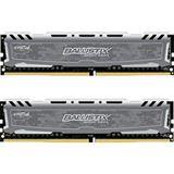 8GB Crucial Ballistix Sport LT Single Rank grau DDR4-2400 DIMM CL16 Dual Kit