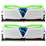 16GB GeIL EVO Super Luce grüne LED weiß DDR4-2400 DIMM Dual Kit