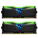 8GB GeIL EVO Super Luce grüne LED schwarz DDR4-2400 DIMM CL16