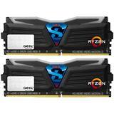 32GB GeIL Ryzen Super Luce weiße LED schwarz DDR4-2400 DIMM