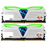 16GB GeIL Ryzen Super Luce grün LED weiß DDR4-2400 DIMM Dual Kit