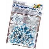Folia Perlensterne-Set, 340-teilig, blau / silber / perlweiß