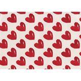 """Susy Card Geschenkpapier """"Rote Herzen"""", auf Rolle 57 g/qm"""