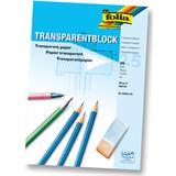 Folia Transparentpapier-Block, DIN A4, 80 g/qm, 25 Blatt
