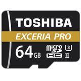 64 GB Toshiba Exceria Pro M501 microSDXC Class 10 UHS-II U3 Retail inkl. Adapter