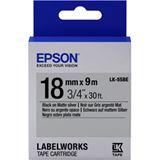 Epson TAPE - LK5SBE MATTE schwarz/silber