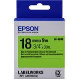 Epson TAPE - LK5GBF FLUOR schwarz/grün