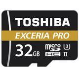 32 GB Toshiba Exceria Pro M501 microSDHC Class 10 UHS-II U3 Retail inkl. Adapter