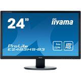 "24"" (60,96cm) iiyama ProLite E2483HS-B3 schwarz 1920x1080 1xHDMI"