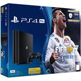 Sony Playstation 4 PS4 PRO Konsole 1 TB + FiFa 18 + PSN Plus 14d