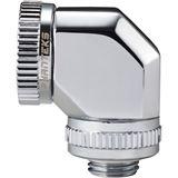 PHANTEKS Glacier Hard-Tube Adapter 2x 16mm 90 Grad - chrome