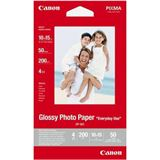 Canon Foto Papier Glossy glänzendes Fotopapier - 50 Blatt