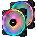 Corsair LL140 RGB 2er Pack 140x140x25mm 600-1300 U/min 25 dB(A)