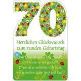 """SUSY CARD Geburtstagskarte - 70. Geburtstag """"Blumenfond"""""""