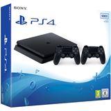 Sony Playstation 4 Slim 500GB black inkl.2 Contr.(CUH-2116A)