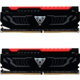 16GB Patriot Viper LED rot DDR4-3000 DIMM CL15 Dual Kit
