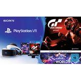 Sony PlayStation VR PS4 +Camera, Gran Turismo Sport, VR Worlds Voucher schwarz/weiß