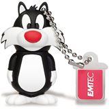 8 GB EMTEC Looney Tunes L101 Sylvester schwarz/weiss USB 2.0