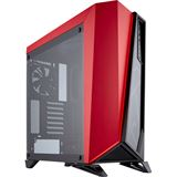 Corsair Carbide SPEC-OMEGA Mid-Tower Tempered Glass Gaming Case schwarz und rot