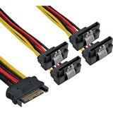 (€23,17*/1m) 0.30m InLine SATA Y-Stromadapterkabel SATA Stecker