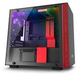 NZXT H200i mit Sichtfenster Mini-ITX ohne Netzteil schwarz/rot