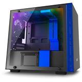 NZXT H200i mit Sichtfenster Mini-ITX ohne Netzteil schwarz/blau