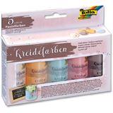 folia Kreidefarben-Set, 5 x 60 ml, farbig sortiert